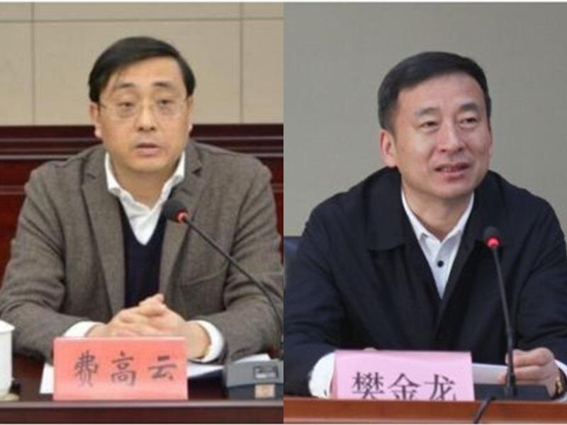 江蘇省副省長費高雲和常務副省長樊金龍。網圖