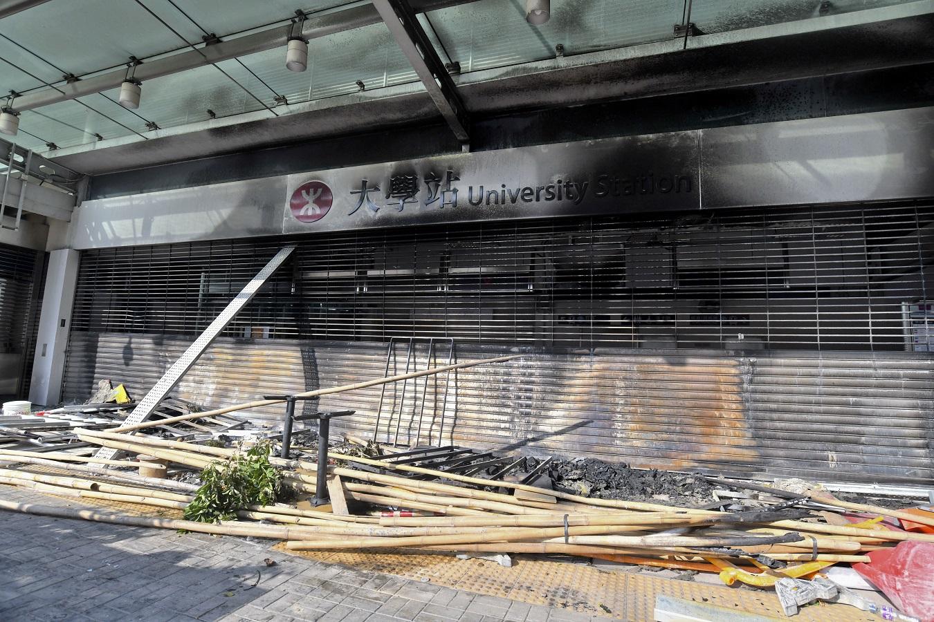東鐵大學站周六仍會關閉。