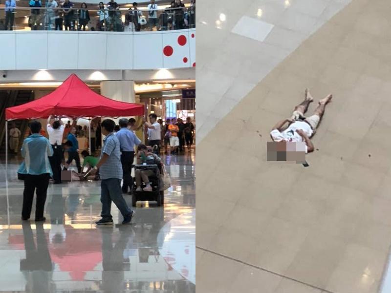 觀塘apm商場有人高處墮下。Sammi Yuen及Hong Tang圖片