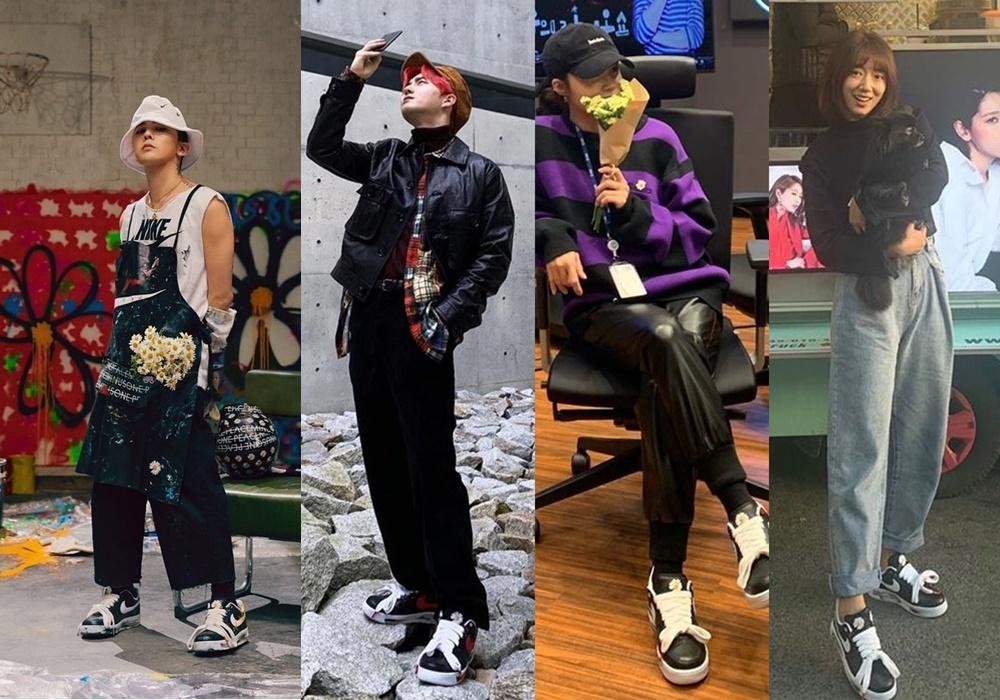 眾星率先晒擁有GD限量波鞋已成為韓國娛圈時尚事。