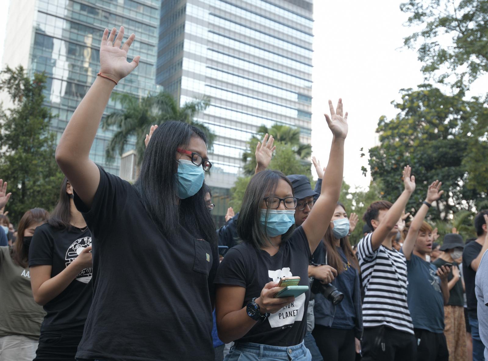 有網民在中環遮打花園發起「願祢榮光歸香港」集會。