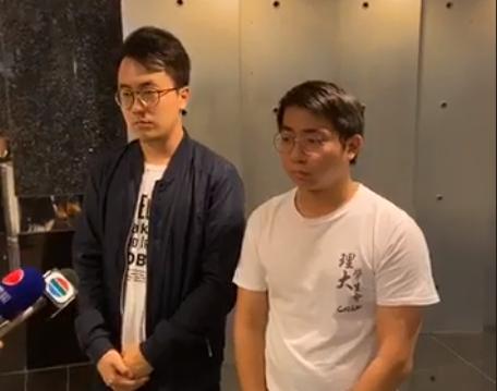 李傲然(左)及廖建鈞(右)。