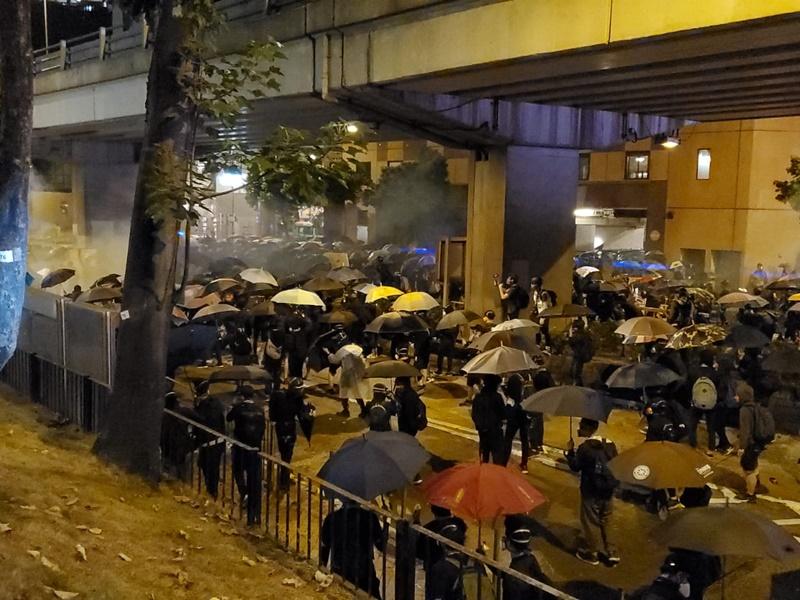 旺角佐敦一帶昨晚有示威衝突。資料圖片