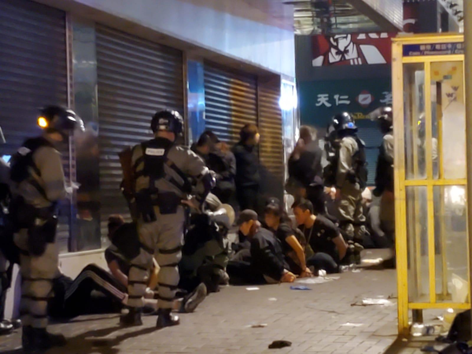 多人被捕。蔡楚輝攝