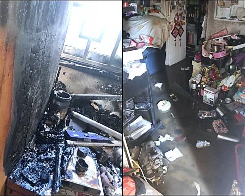 【修例風波】尖沙嘴催淚彈射入屋 低層民居被焚