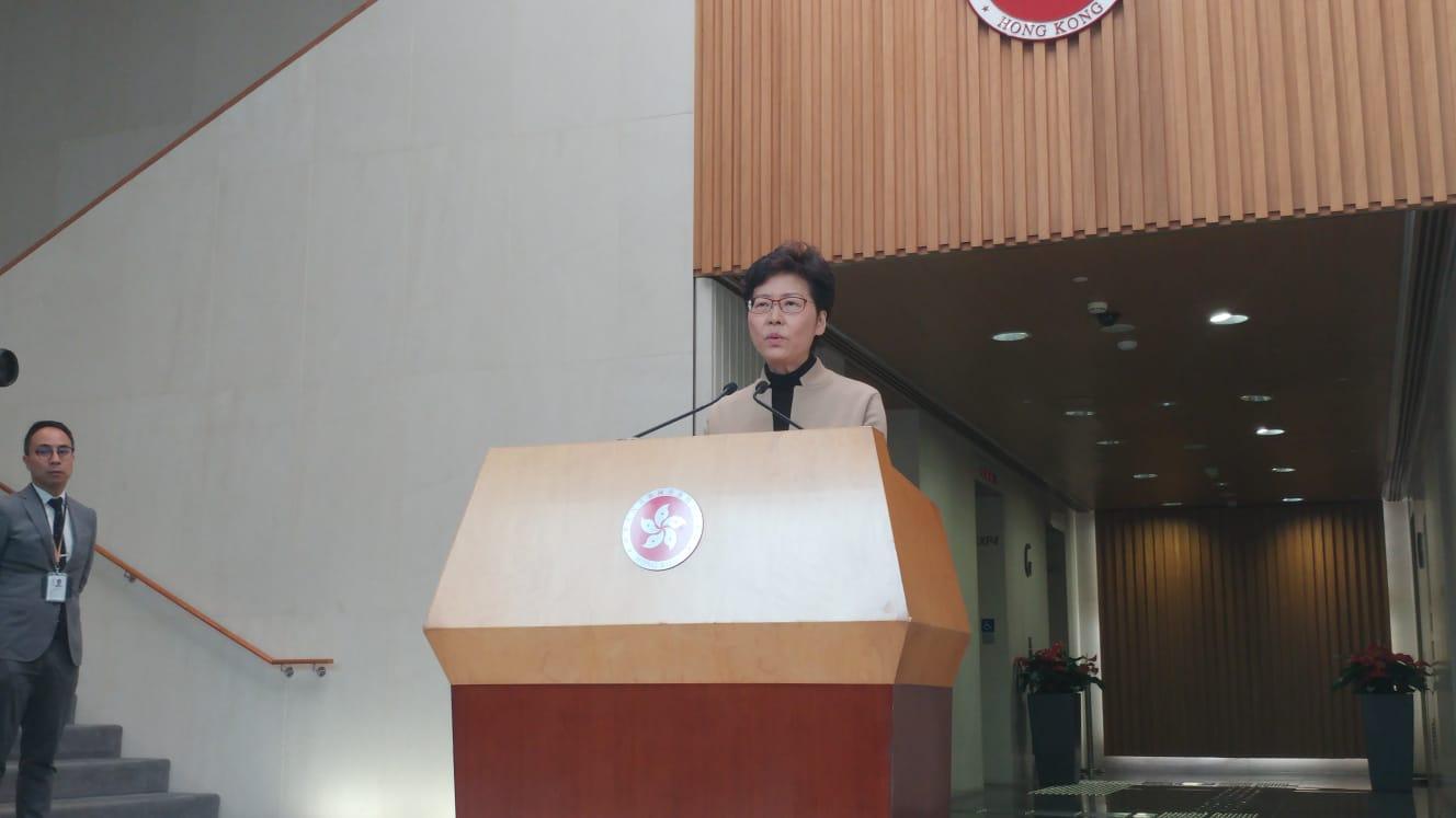 林鄭重申特區政府有信心和有能力,處理目前情況。