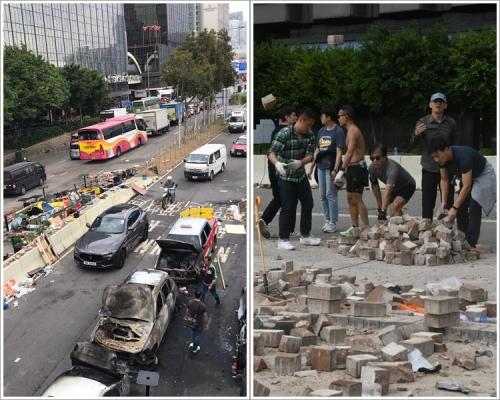 【修例風波】尖東海傍多車被燒毀 部分更燒成廢鐵