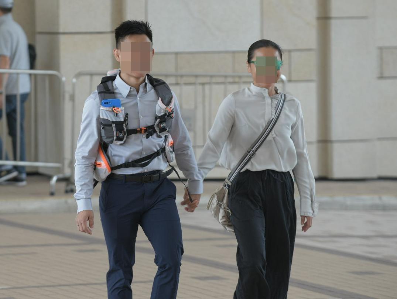被告湯偉雄(左)及杜依蘭(右)。資料圖片