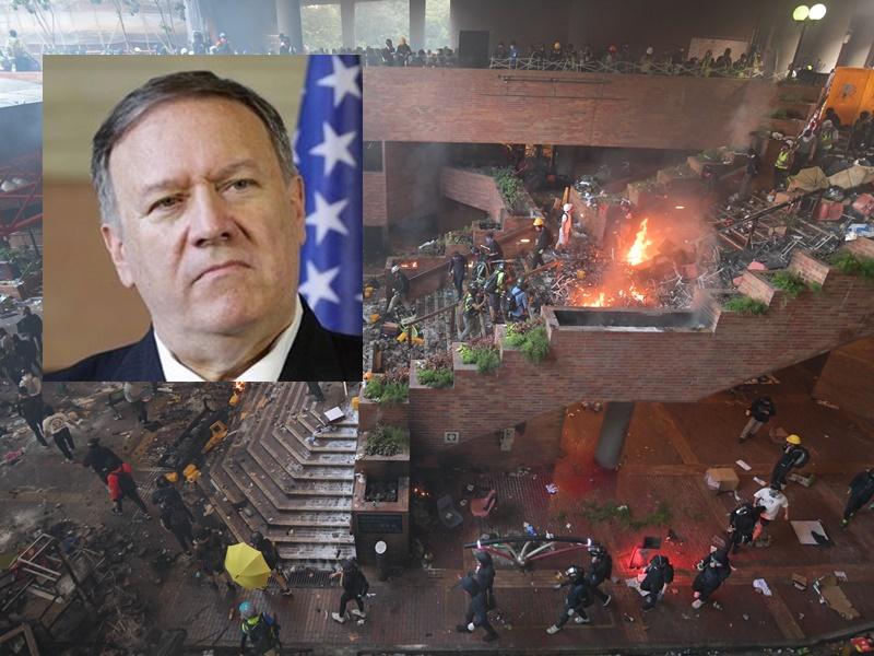 蓬佩奧指美國關注理大事件。資料圖片