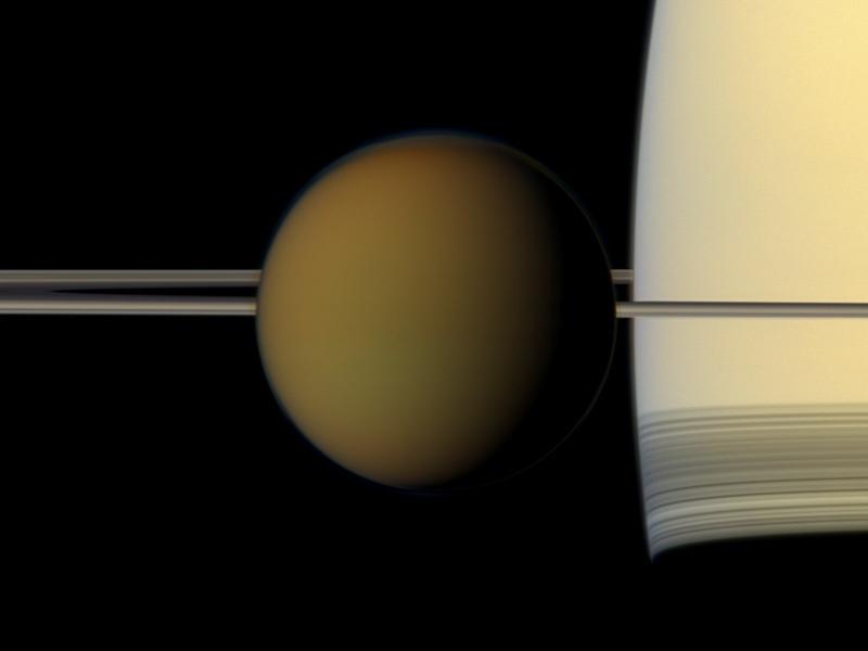 土星最大衛星有山有湖與地球雷同 。網上圖片