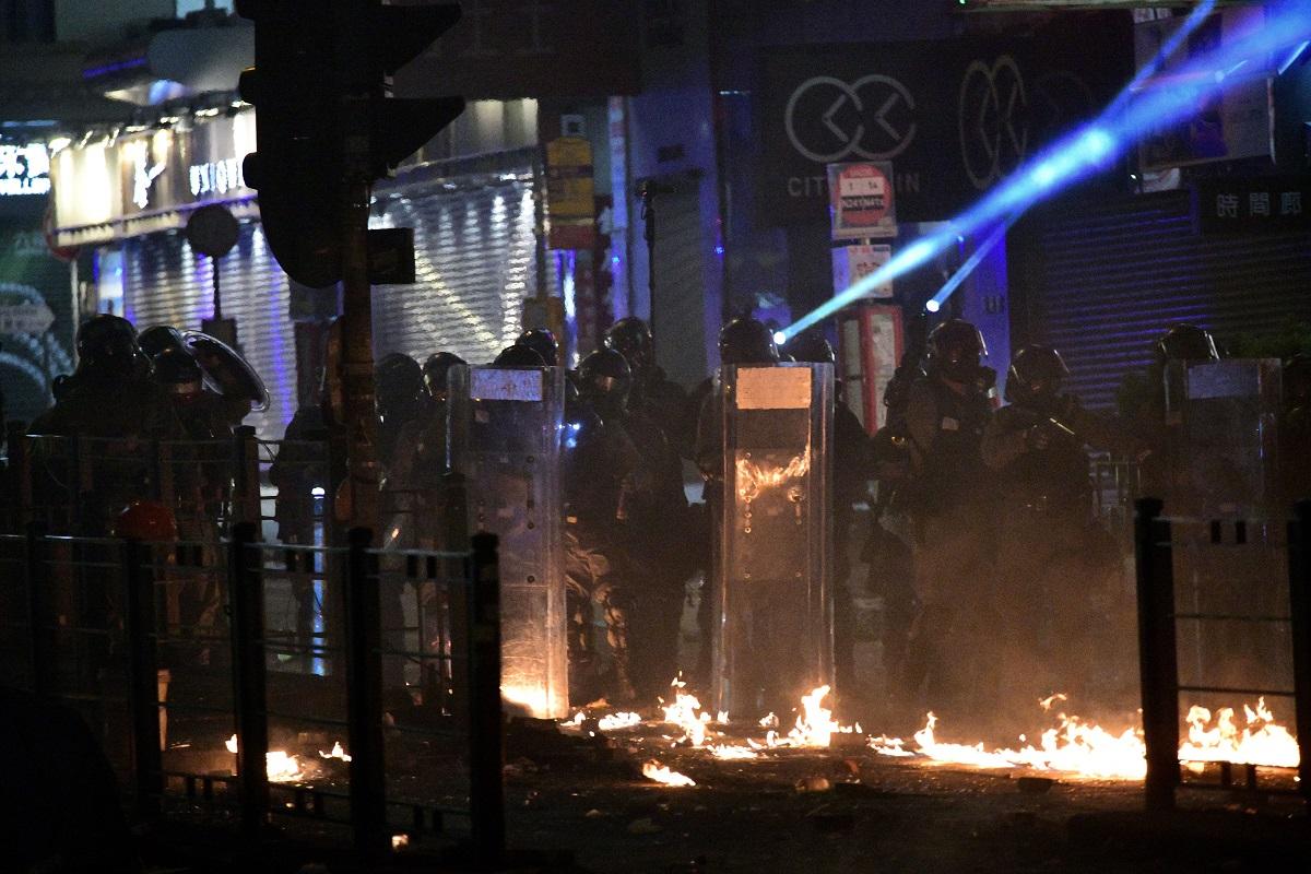 警方多次驅散示威者。資料圖片