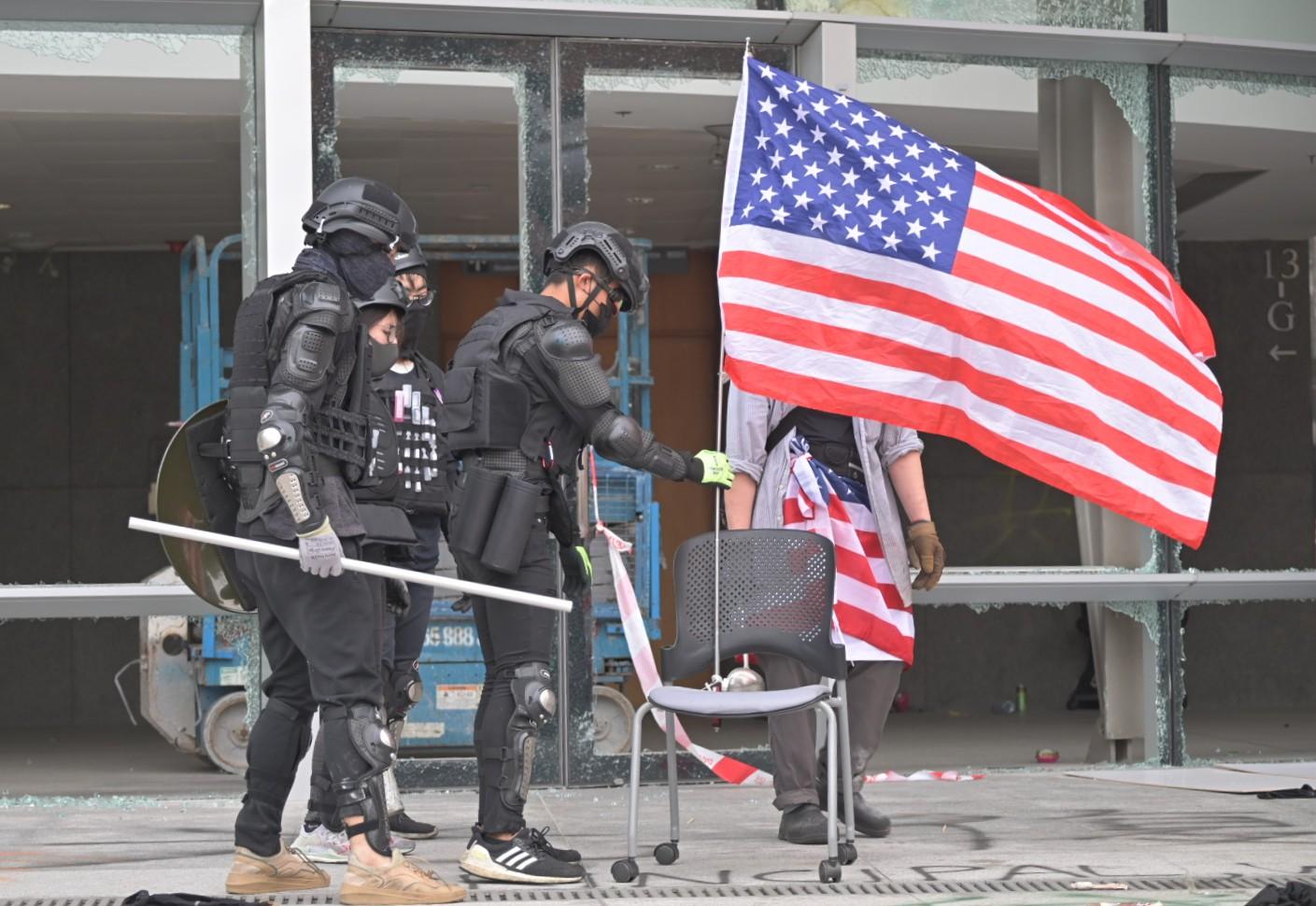 外交部批評美國公然插手香港事務。