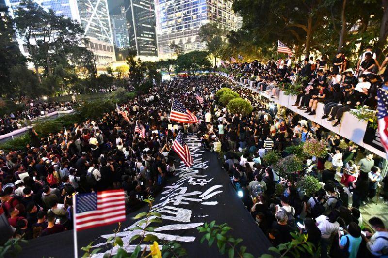 美國國會參議院通過「香港人權與民主法案」,國務院港澳辦表示強烈抗議和譴責。資料圖片