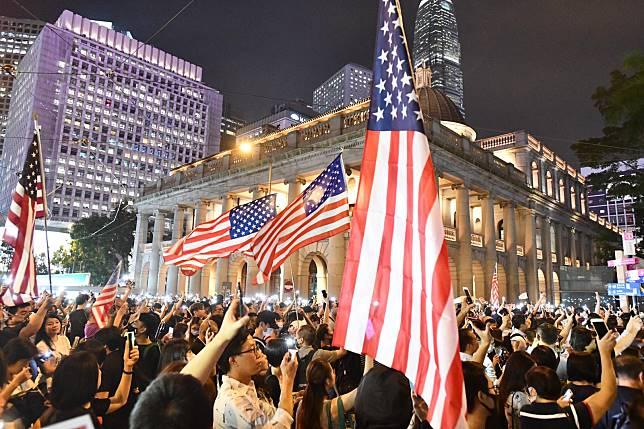 美國國會參議院通過「香港人權與民主法案」。 資料圖片