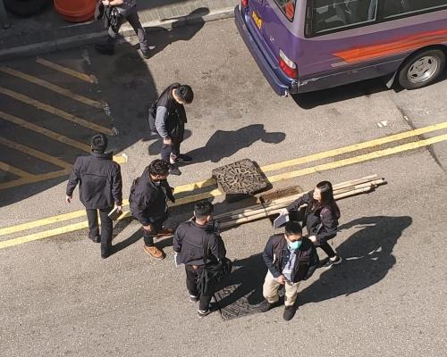 【修例風波】理大1示威者爬水渠逃走事敗  5人涉協助同被捕