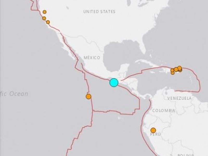 墨西哥南部近海發生6.3級地震。(網圖)