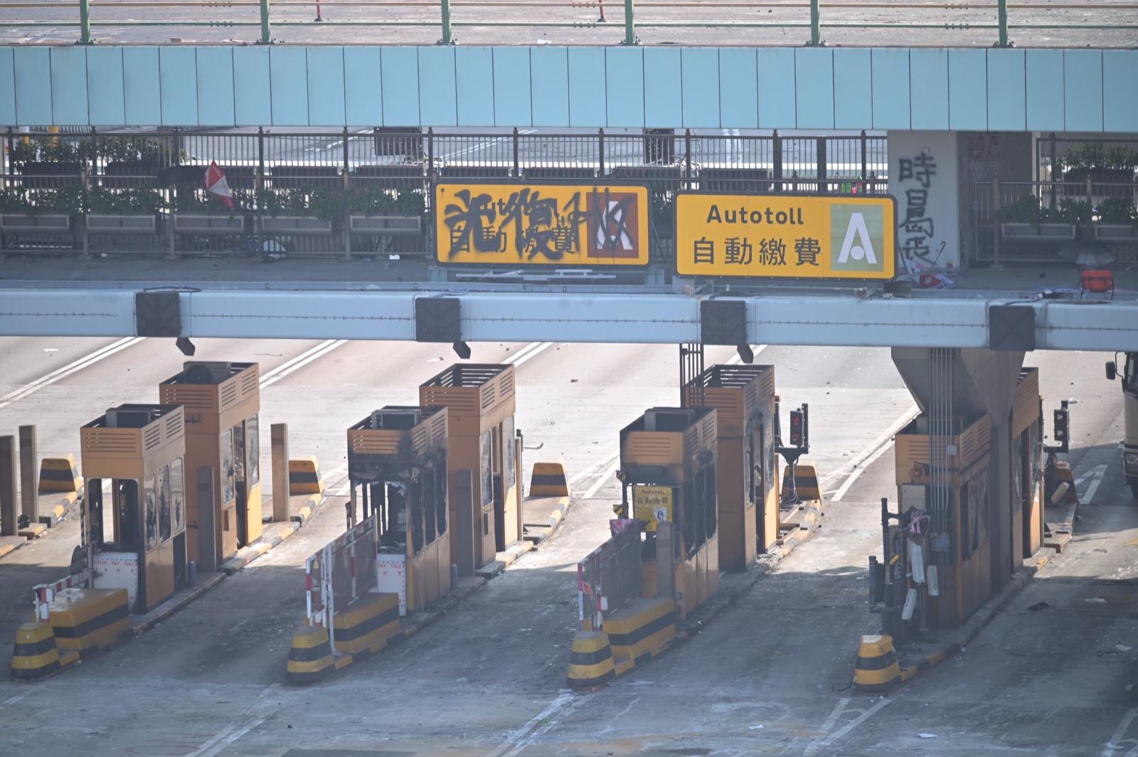紅隧交通仍然癱瘓