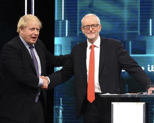 【英國大選】與郝爾彬首場激辯 民調顯示約翰遜略勝