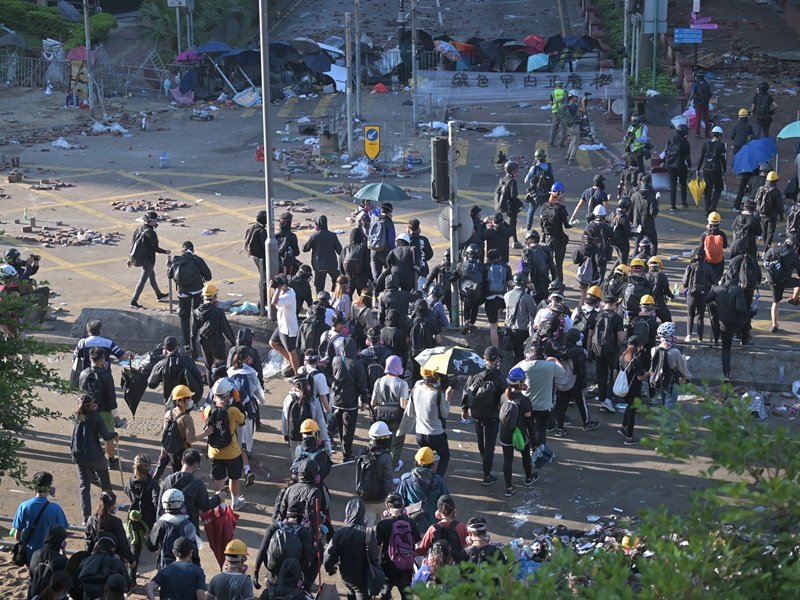 示威衝突持續升溫。資料圖片