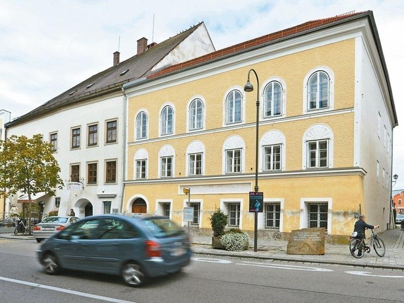 位於奧地利希特勒的出生屋。AP