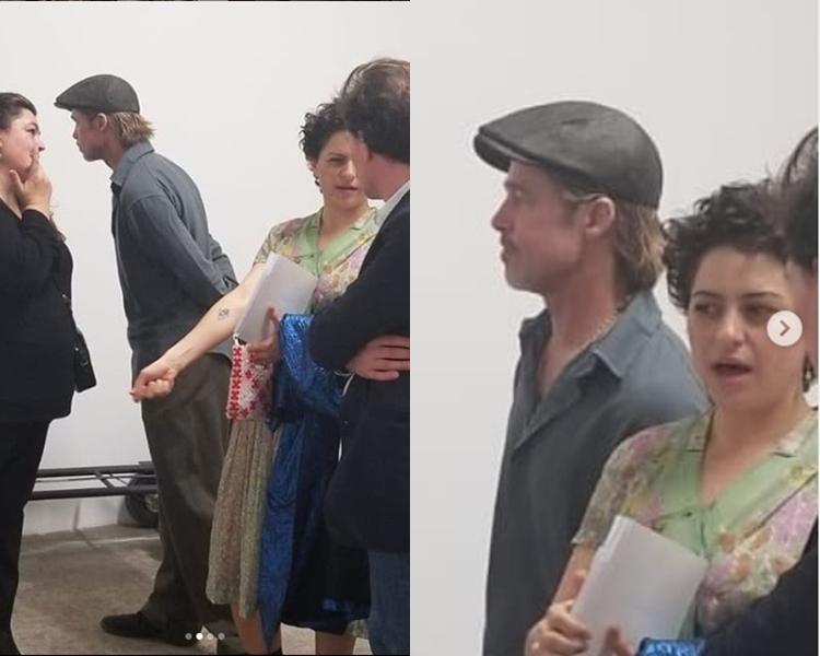 畢佬和Alia到洛杉磯的畫廊睇展覽時被捕獲。