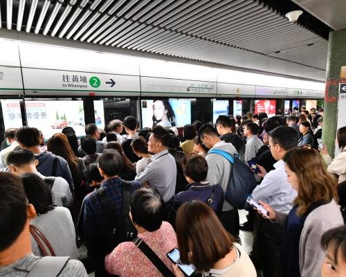【修例風波】觀塘線港島線及荃灣線多宗阻列車關門 服務受影響