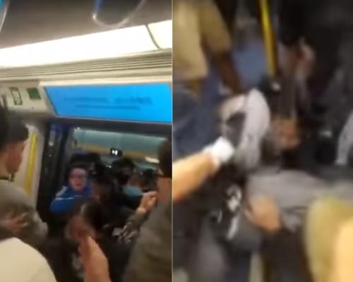 【有片】天水圍站女學生疑阻關車門 遭數男扯入車廂圍毆暴打