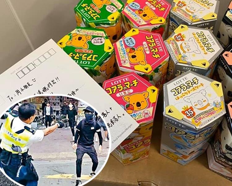 陳志全形容有關熊仔餅「幾個月都食唔晒」。陳志全fb圖片(小圖為事發一刻,岳品新聞相片)