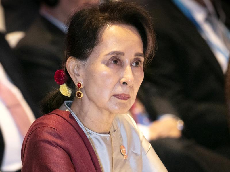 91年諾貝爾和平獎得主昂山素姬首次因軍政府鎮壓羅興亞人事件而被控告。AP資料圖片