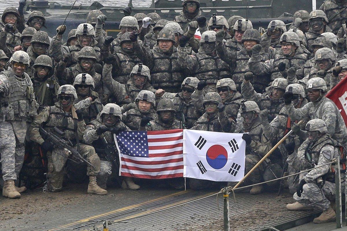 如南韓政府拒絕美國的要求,不肯承擔多一些駐軍費用的話,美國考慮從南韓撤走一旅美兵。AP