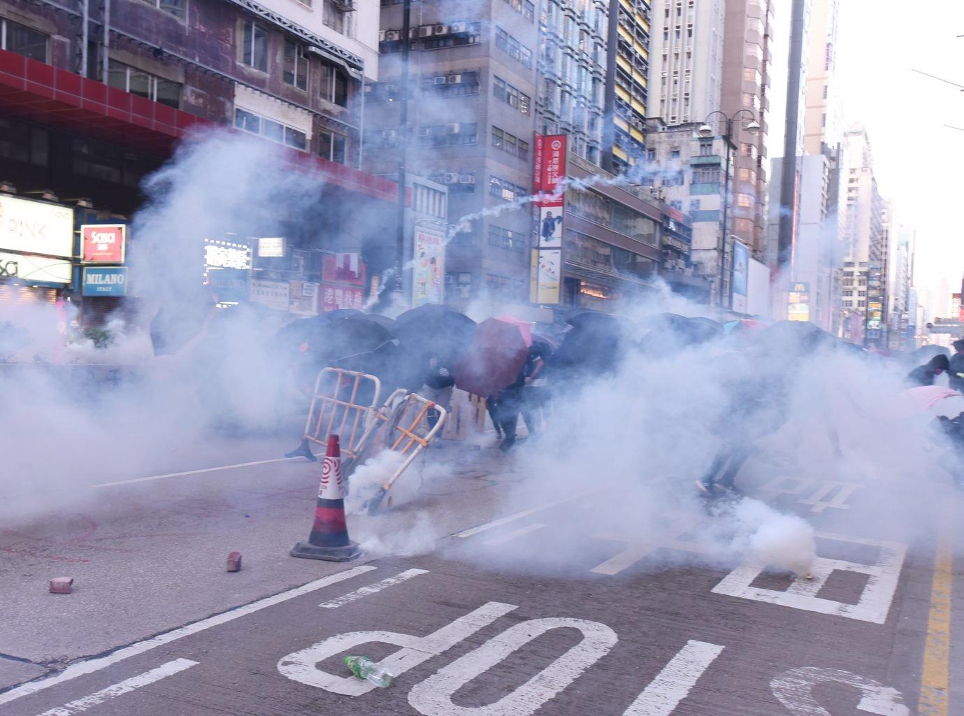 近日在油尖旺區多次爆發示威衝突。資料圖片