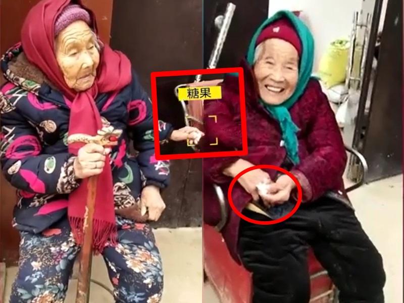 不少網民稱84歲女兒為「最幸福的孩子」。影片截圖