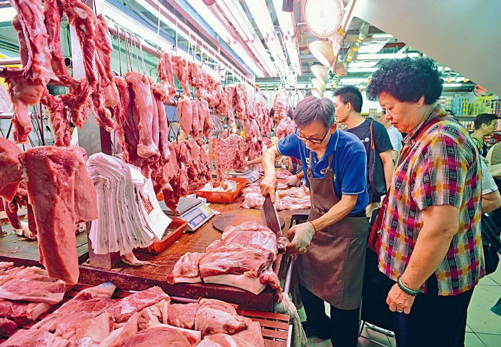 受豬肉價格高企影響食品通脹仍然顯著。