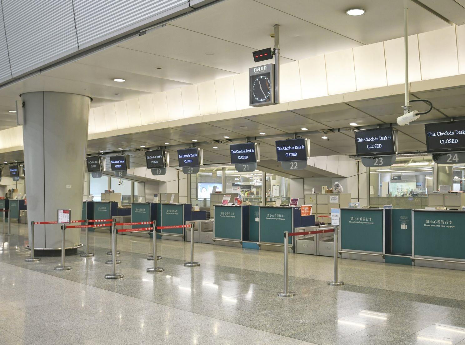 九龍站市區預辦登機服務晚上10時起暫停。資料圖片
