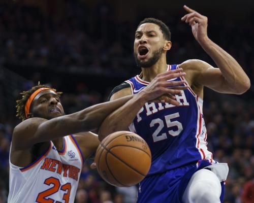 【NBA】西蒙斯職業生涯三分開齋 76人小勝紐約人