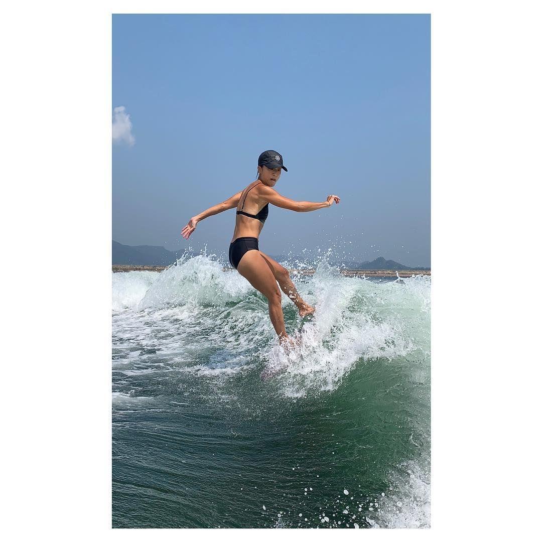 阿徐經常去滑水及滑雪。