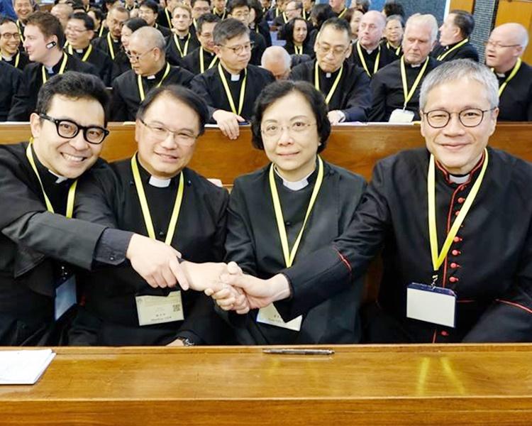 4名候選人:(左起)范晉豪、謝子和、梁秀珊和管浩鳴。《教聲》fb圖片