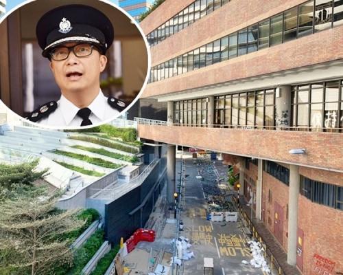鄧炳強指有理大示威者送院後潛逃 離境時被捕