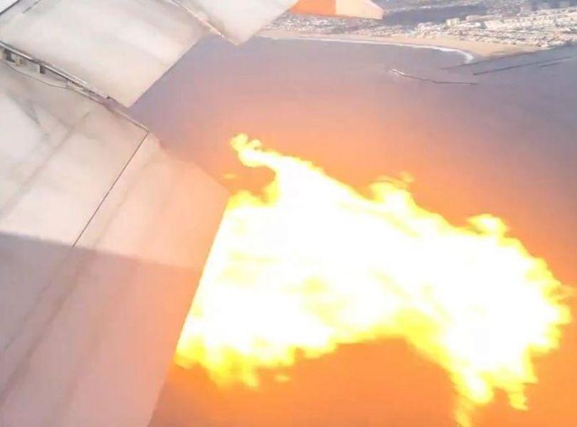 引擎發生故障,一度噴火。網圖