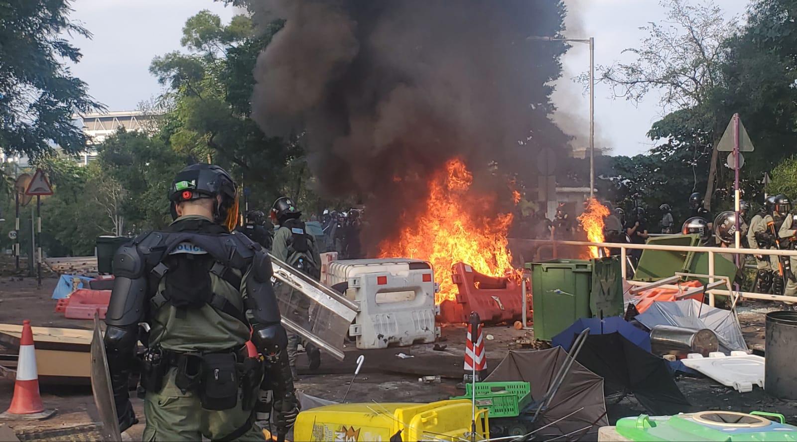本港中大、理大爆發激烈衝突。資料圖片