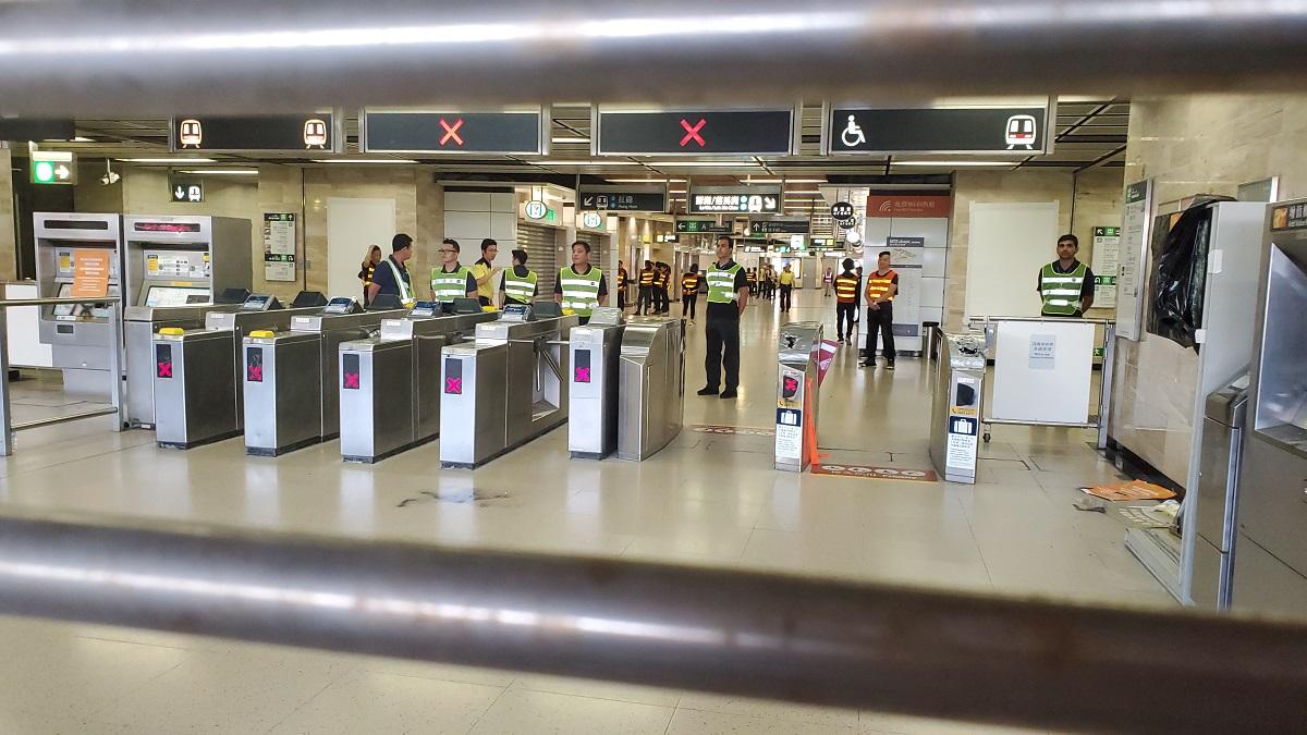 沙田站今晚提早關閉。資料圖片