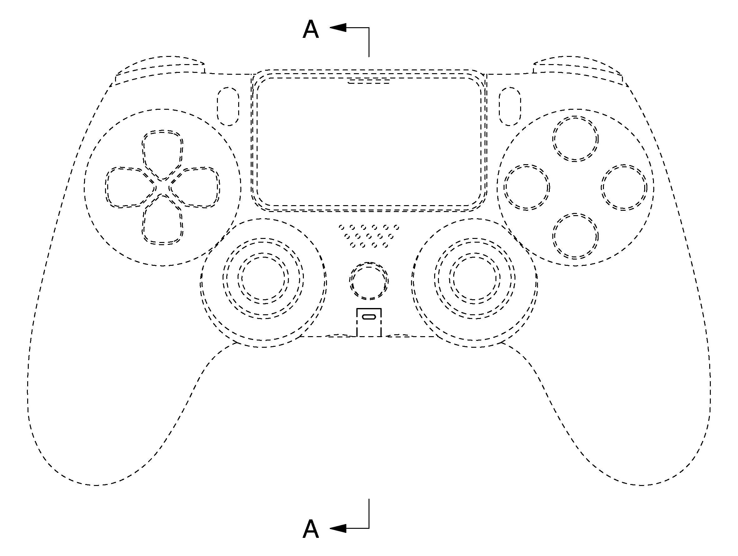 相信為PlayStation 5手掣的概念圖。網圖