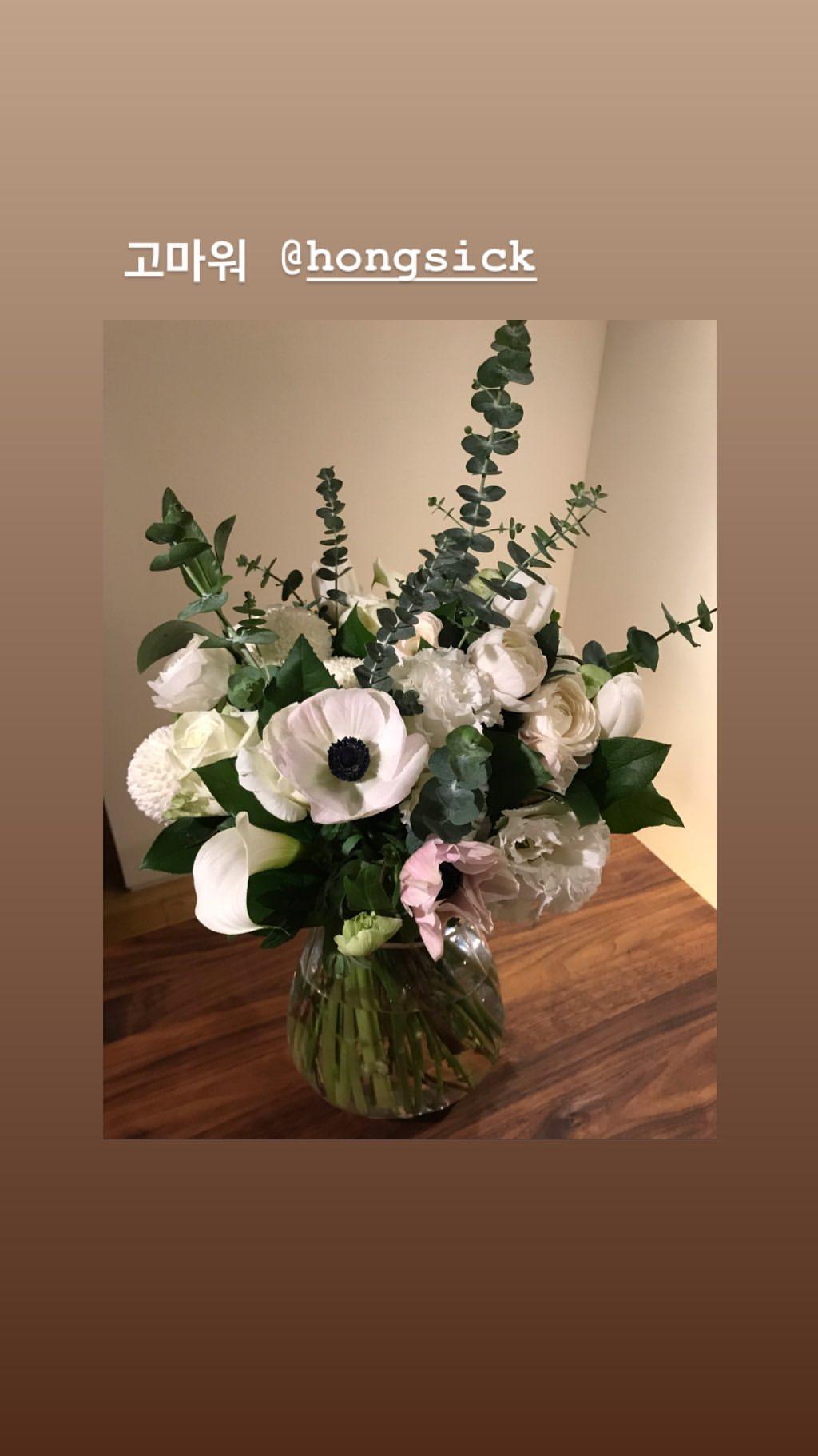 劉亞仁送的花。(ig圖片)