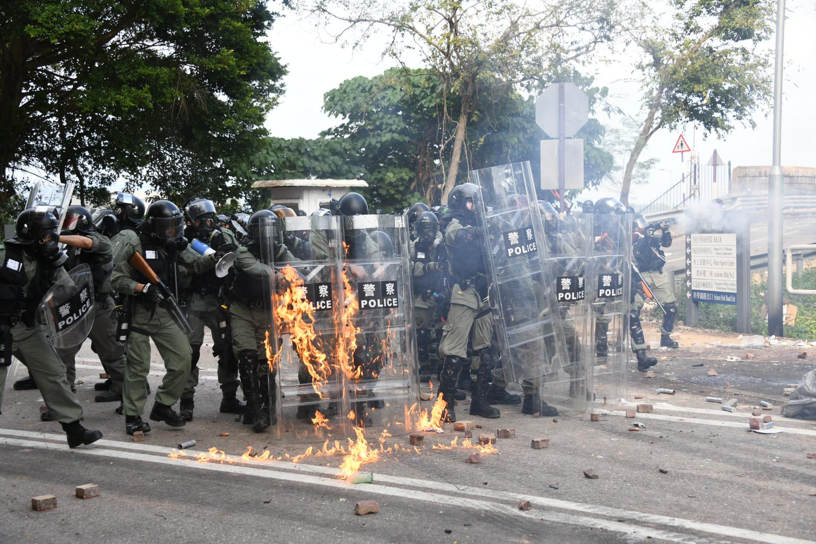 中文大學本月12日爆發嚴重衝突。資料圖片
