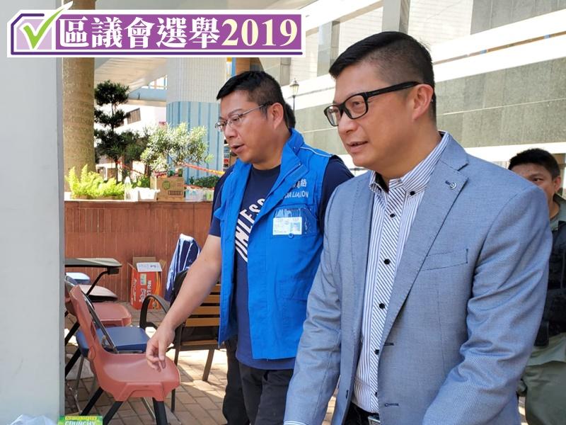 鄧炳強(右)表示有信心可應付突發情況。