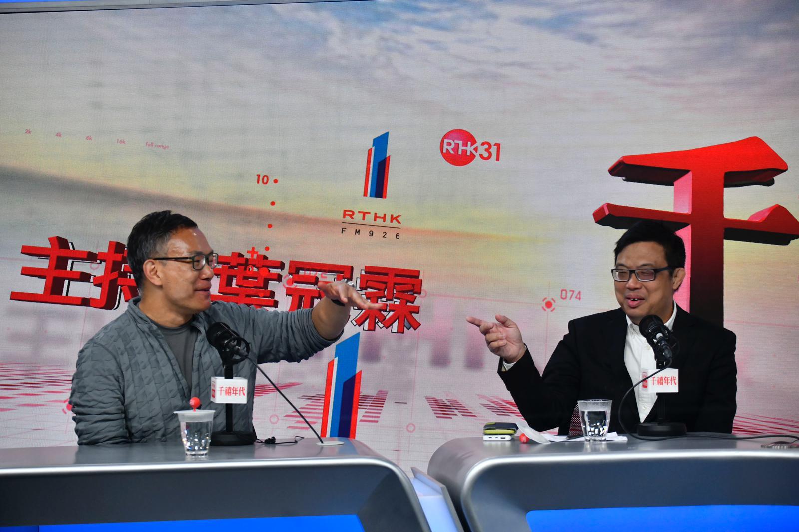 謝偉俊(左)及涂謹申(右)今次選舉中均成功連任。