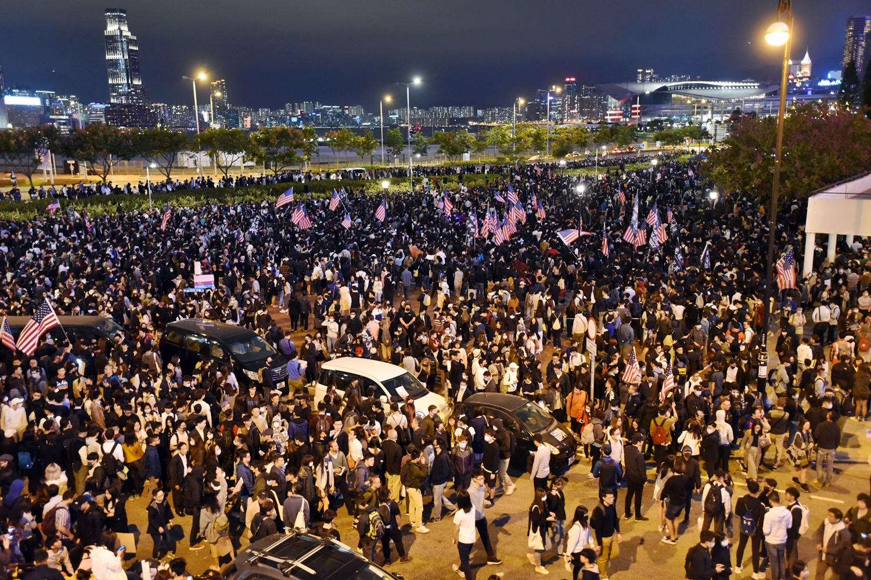 大會稱10萬人參與集會。