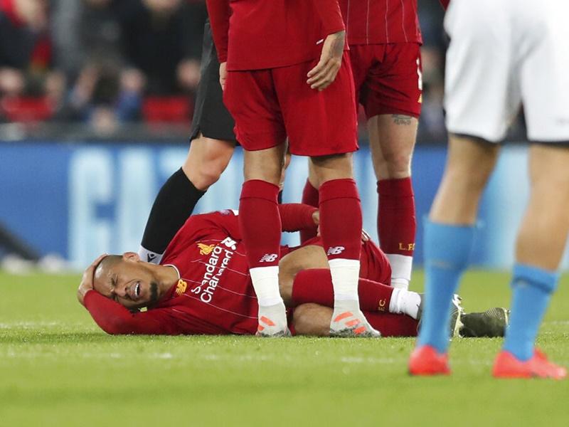 法賓奴腳踝韌帶受傷。AP