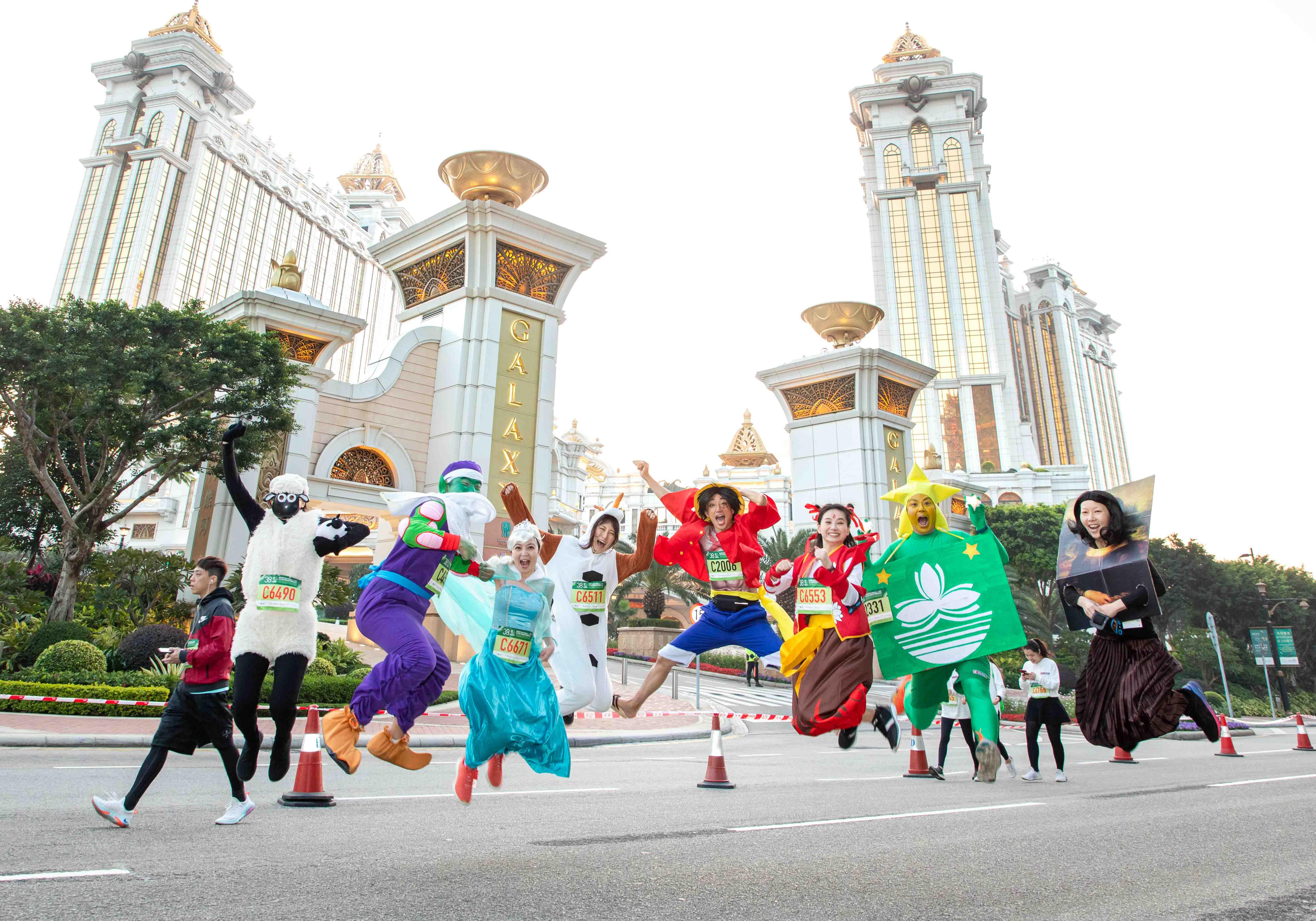 銀河娛樂澳門國際馬拉松吸引不少跑手精心裝扮作賽。相片由公關提供