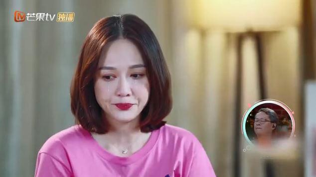 陳喬恩在節目中感慨落淚說「愛情沒有放棄我」。